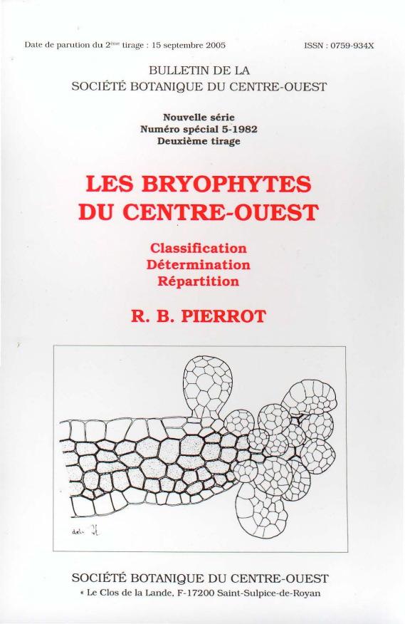 Les Bryophytes du Centre-Ouest
