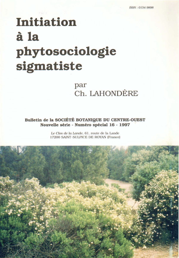 Initiation à la phytosociologie sigmatiste